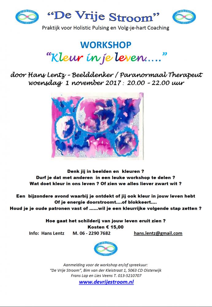 Workshop Kleur in je leven
